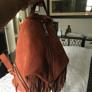 Rebecca Minkoff brown leather backpack satchel